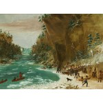 Puzzle  Grafika-02226 George Catlin: The Expedition Encamped below the Falls of Niagara. January 20, 1679, 1847-1848