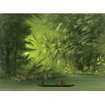 Puzzle  Grafika-02241 George Catlin: Entrance to a Lagoon, Shore of the Amazon, 1854-1869