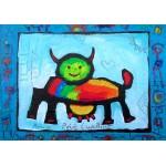Puzzle  Grafika-02467 Anne Poiré & Patrick Guallino - Vache Radieusement Arc-en-ciel
