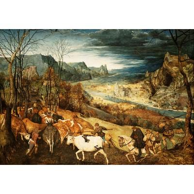 Puzzle Grafika-02794 Brueghel Pieter - The Return of the Herd, 1565