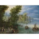 Puzzle  Grafika-02795 Jan Brueghel - River Landscape, 1607