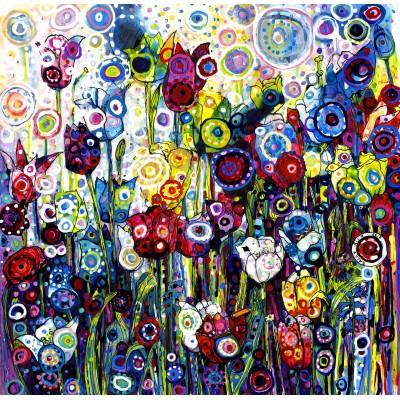 Puzzle Grafika-02869 Sally Rich - Spring Tulips