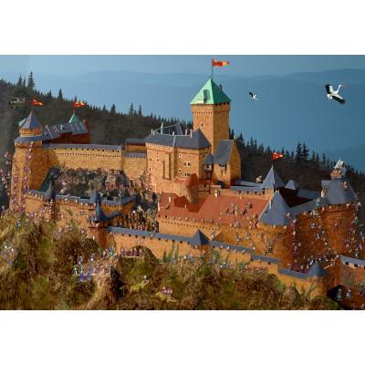 Puzzle Grafika-02971 Haut-Kœnigsbourg Castle