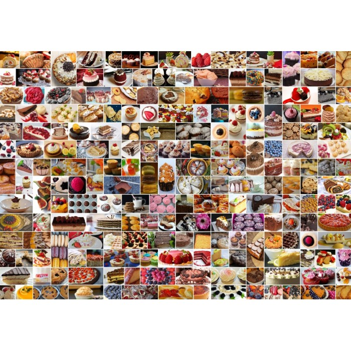 Collage - Cakes Puzzle 1500	pieces