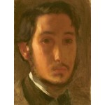 Puzzle   Edgar Degas: Self-Portrait with White Collar, 1857