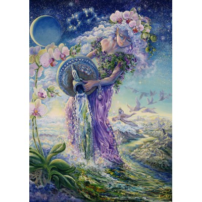 Puzzle Grafika-T-00038 Zodiac Sign - Aquarius
