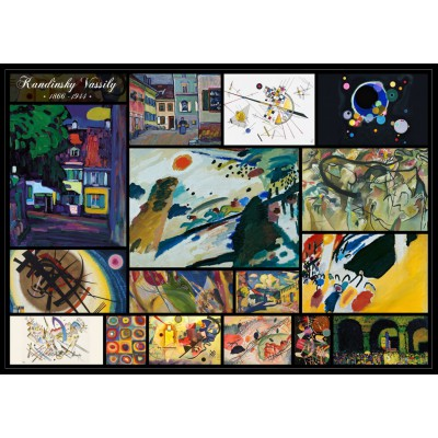 Puzzle kandinsky vassily collage grafika t 00048 1000 for Puzzle kandinsky