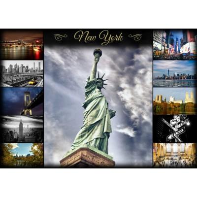 Puzzle Grafika-T-00087 Collage - New York