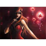 Puzzle  Grafika-T-00114 Misstigri: Red Light Flower