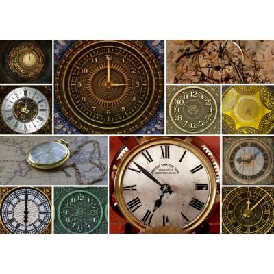 Puzzle Grafika-T-00135 Collages - Clocks