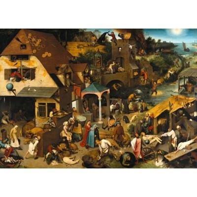 Puzzle Grafika-T-00154 Brueghel Pieter: The Dutch Proverbs, 1559