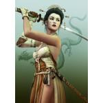 Puzzle  Grafika-T-00155 Female Samurai