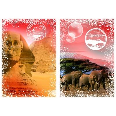 Puzzle Grafika-T-00205 Travel around the World - Africa, Egypt and Kenya