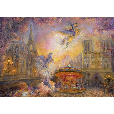 Puzzle Grafika-T-00278 Josephine Wall - Magical Merry Go Round