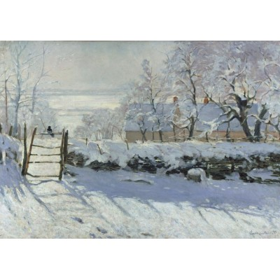 Puzzle Grafika-T-00321 Claude Monet: The Magpie, 1868-1869