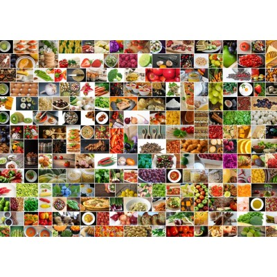 Puzzle Grafika-T-00375 Collage - Kitchen in Color