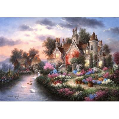 Puzzle Grafika-T-00506 Dennis Lewan - Mill Creek Manor