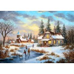 Puzzle  Grafika-T-00519 Dennis Lewan - A Mid-Winter's Eve