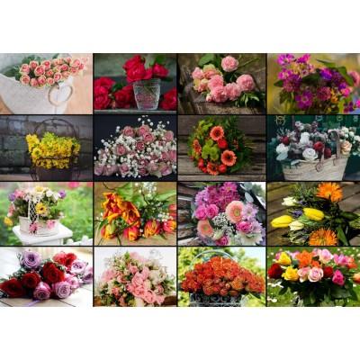 Puzzle Grafika-T-00521 Collage - Flowers