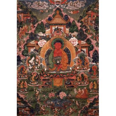 Puzzle Grafika-T-00600 Buddha Amitabha in His Pure Land of Suvakti