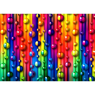 Puzzle Grafika-T-00620 Multicolored Bubbles