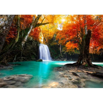 Puzzle Grafika-T-00629 Deep Forest Waterfall