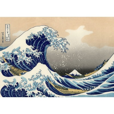 Puzzle Grafika-T-00638 Hokusai - The Great Wave off Kanagawa
