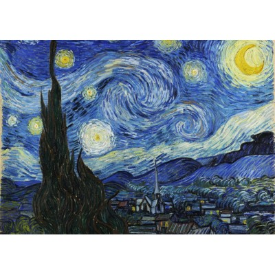 Puzzle Grafika-T-00645 Vincent Van Gogh - The Starry Night, 1889