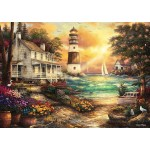 Puzzle  Grafika-T-00707 Chuck Pinson - Cottage by the Sea