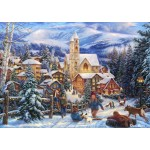 Puzzle  Grafika-T-00722 Chuck Pinson - Sledding To Town