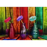 Puzzle  Grafika-T-00861 Flowered and Colorful Vases