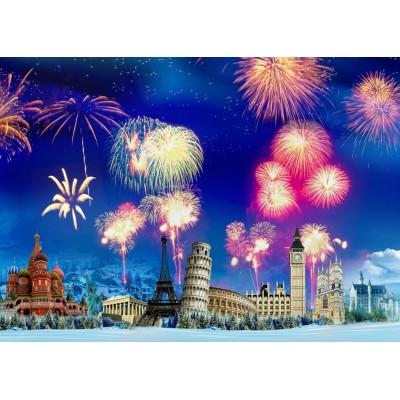 Puzzle Grafika-T-00870 New Year's Eve around the World