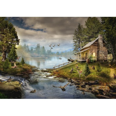 Puzzle Grafika-T-00871 The Fisherman's Cabin