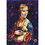 Puzzle  Grafika-T-00887 Leonardo da Vinci: Lady with an Ermine, by Sally Rich