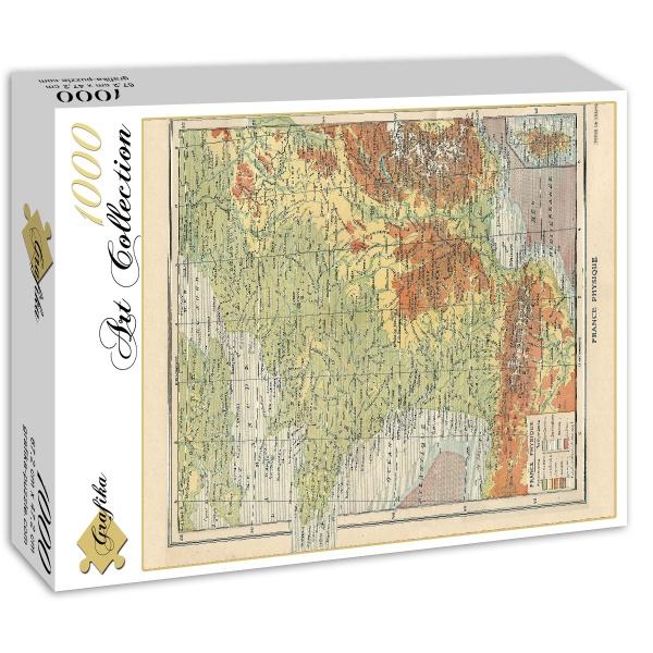 Puzzle map of france larousse 1925 grafika 01226 1000 pieces 1925 map of france larousse gumiabroncs Gallery