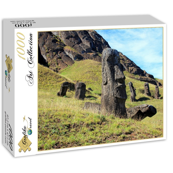 Easter Island Beaches: Puzzle Moai At Quarry, Easter Island Grafika-01267 1000