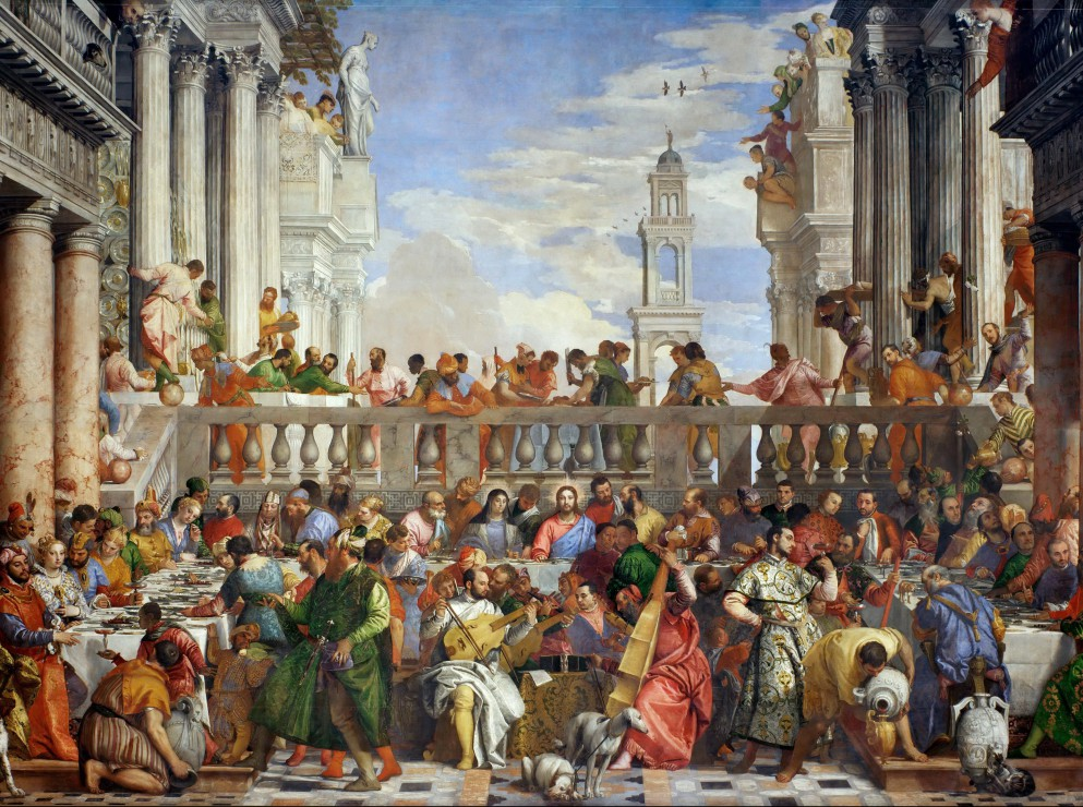 Puzzle Paolo Veronese : The Wedding at Cana, 1563 Grafika ... Wedding At Cana Veronese