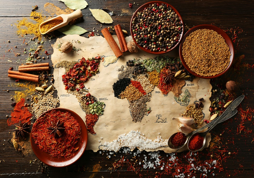 Puzzle world map in spices grafika 00989 1000 pieces jigsaw world map in spices gumiabroncs Images
