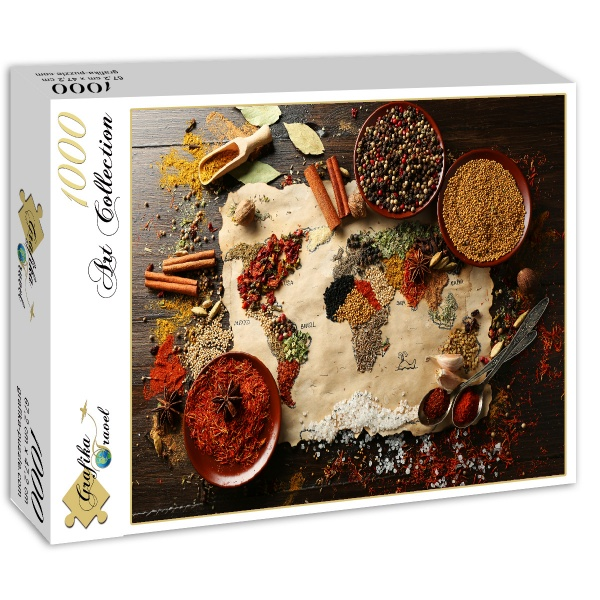 Puzzle world map in spices grafika 00989 1000 pieces jigsaw puzzles world map in spices world map in spices gumiabroncs Choice Image