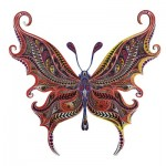 Harmandi-Puzzle-Creatif-90017 Wooden Jigsaw Puzzle - The Illusionist Butterfly