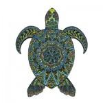 Harmandi-Puzzle-Creatif-90024 Wooden Jigsaw Puzzle - The Tropical Turtle
