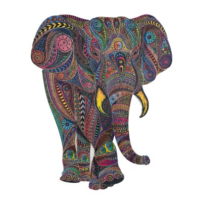 Harmandi-Puzzle-Creatif-90031 Wooden Jigsaw Puzzle - The Imperial Elephant
