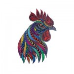 Harmandi-Puzzle-Creatif-90048 Wooden Jigsaw Puzzle - The Singing Rooster