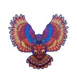 Harmandi-Puzzle-Creatif-90055 Wooden Puzzle - The Sumptuous Owl