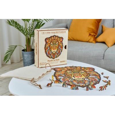 Harmandi-Puzzle-Creatif-90086 Wooden Puzzle - The Majestic Lion