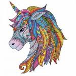 Harmandi-Puzzle-Creatif-90109 Wooden Puzzle - The Fairy Unicorn