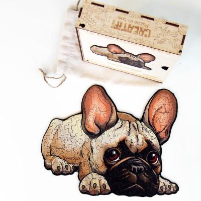 Harmandi-Puzzle-Creatif-90116 Wooden Puzzle - The Faithful Bulldog