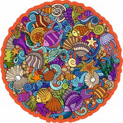 Harmandi-Puzzle-Creatif-90123 Wooden Jigsaw Puzzle - The Marina Planet
