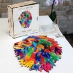 Harmandi-Puzzle-Creatif-90130 Wooden Jigsaw Puzzle - The Mozaik Lion