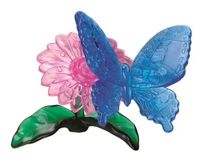 HCM-Kinzel-59125 3D Plexiglas puzzle - The flower and the butterfly